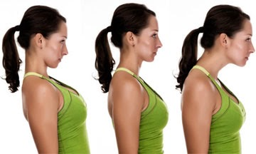 The chin tuck exercise, or negative z's as they're sometimes called, is a great exercise to strengthen the neck muscles for good posture
